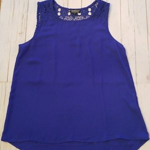 Papermoon blue tank with lace